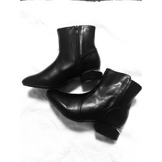 スパイラルガール(SPIRAL GIRL)のレザーショートブーツ 新品未使用(ブーツ)