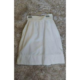 フェンディ(FENDI)のFENDI フェンディ ☆スカート ホワイト サイズ40 (ひざ丈スカート)