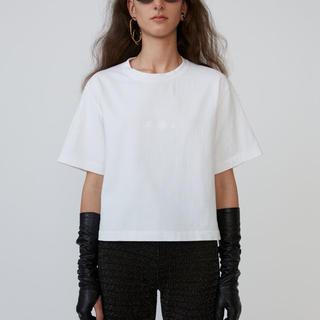 アクネ(ACNE)の未使用 アクネストゥディオ エンボス Tシャツ ホワイト acne アクネ (Tシャツ(半袖/袖なし))