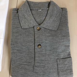 メンズ ポロシャツ グレー 新品未使用(ポロシャツ)
