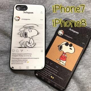 iPhoneケース スヌーピー  Instagram風 iPhone7/8(iPhoneケース)