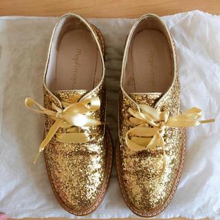 メローイエロー(mellow yellow)のメローイエロー グリッターローファー(ローファー/革靴)