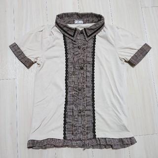 アクシーズファム(axes femme)のaxes femme グレンチェック柄カットソー(Tシャツ(半袖/袖なし))