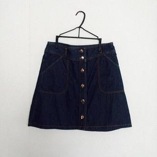 イーストボーイ(EASTBOY)の💞EASTBOY デニムボタンスカート(ひざ丈スカート)