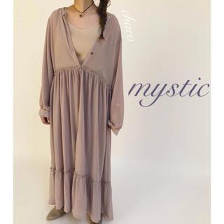 ミスティック(mystic)の2019AW🐻¥7452【mystic】シアーティアードガウンワンピース(ロングワンピース/マキシワンピース)