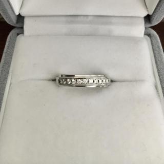 ニワカ(俄)の俄 NIWAKA ダイヤモンド リング Pt950 4mm 6.6g(リング(指輪))