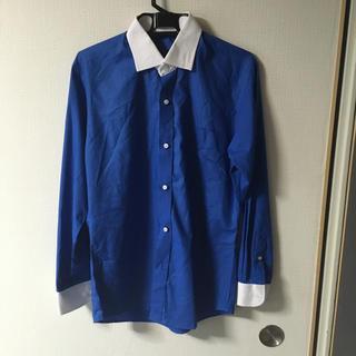 カッターシャツ ブルー×ホワイト Mサイズ(シャツ)