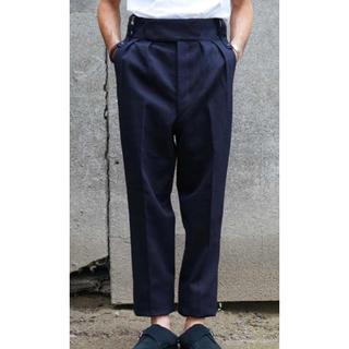 COMOLI - neat cotton kersey beltless navy M