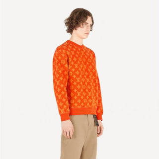 LOUIS VUITTON - LOUIS VUITTON フルモノグラムクルーネックセーター