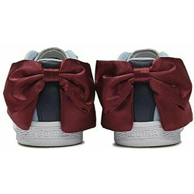 PUMA(プーマ)の最値定価1万!新品!プーマ バスケットボウ ニュースクールリボンスニーカー 25 レディースの靴/シューズ(スニーカー)の商品写真