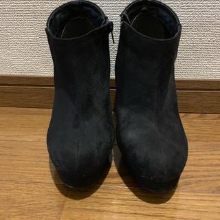 スエード ショートブーツ Sサイズ ブラック(ブーツ)
