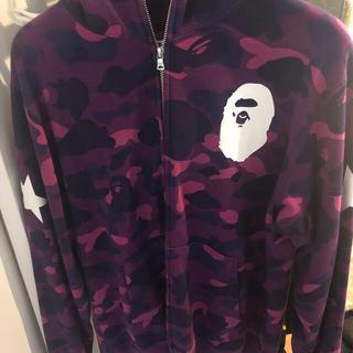 A BATHING APE - A bathing ape 紫カモ パーカー hoodie