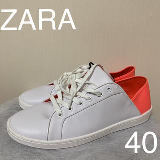 ザラ(ZARA)の新品タグ付  ZARA  2way スニーカー  スリッポン40(スニーカー)