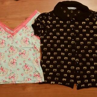 ツモリチサト(TSUMORI CHISATO)のツモリチサト 2枚セット サイズ2 半袖シャツ タンクトップ 花柄(Tシャツ(半袖/袖なし))
