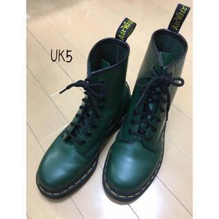 ドクターマーチン(Dr.Martens)のドクターマーチン 8ホール☆UK5☆グリーン(ブーツ)