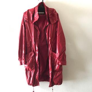 ルシェルブルー(LE CIEL BLEU)のルシェルブルー アンシャントマン ナイロン コート 赤(スプリングコート)