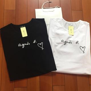 agnes b. - agnesb. Sハート黒白2点セットアニエス・ベー半袖Tシャツ