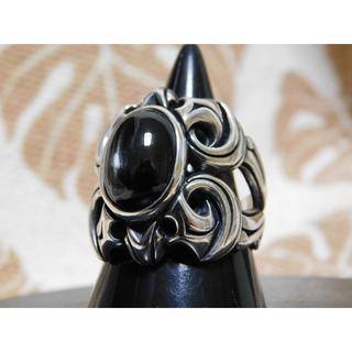 エムズコレクション(M's collection)の美品 エムズコレクション ブラックスター リング 21号 エムズ(リング(指輪))