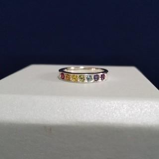 ☆天然石☆ ビビットカラー アミュレット  ピンキーリング(リング(指輪))