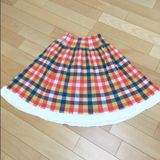 TSUMORI CHISATO - ツモリチサト スカート ブロックチェック