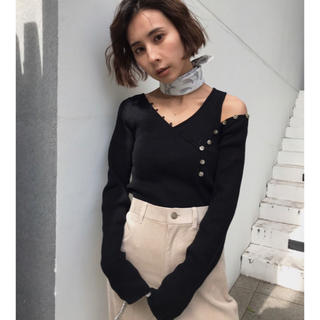Ameri vintage★ HENLEY NECK LAYERED KNIT