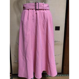 ヴィス(ViS)のViS チェックフレアースカート M【美品】SALE(ひざ丈スカート)