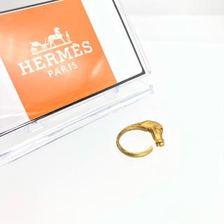Hermes - vintage HERMES エルメス ホース リング 正規品