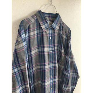 クリスチャンディオール(Christian Dior)の美品 90s クリスチャンディオール チェックシャツ Mサイズ(パーカー)