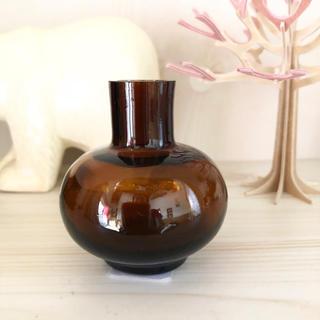 マリメッコ(marimekko)のマリメッコ  新品 廃盤 ミニ フラワーベース 花瓶 ブラウン レア 197(花瓶)