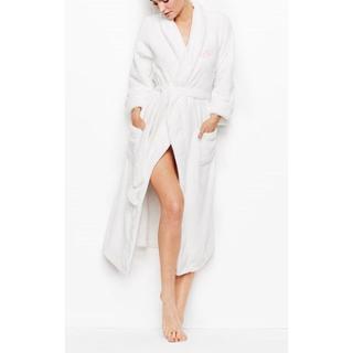 ヴィクトリアズシークレット(Victoria's Secret)の新品 ヴィクトリアシークレット ロングローブ モコモコ アイボリーXS/S(ルームウェア)