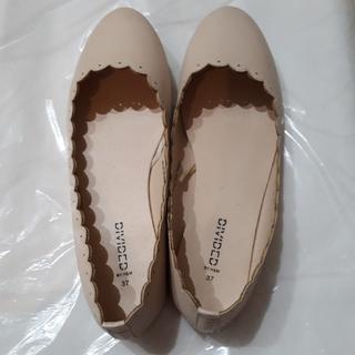 エイチアンドエム(H&M)のH&M バレエシューズ パンプス ペタンコ靴 ベージュ(バレエシューズ)