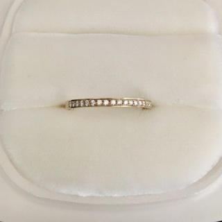 ニワカ(俄)の俄 NIWAKA ダイヤモンド ことほぎ リング K18YG 3mm 1.7g(リング(指輪))