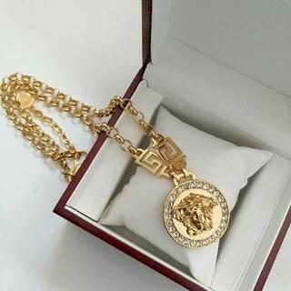 ヴェルサーチ(VERSACE)のVERSACE ネックレス 男女兼用 正規品 ゴールド 超美品(ネックレス)