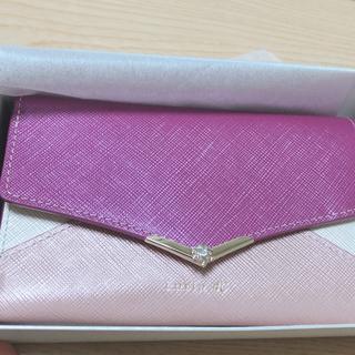 ヨンドシー(4℃)の新品未使用 ルリア4℃ 三つ折り財布 ヨンドシー ボルドー(財布)