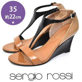 セルジオロッシ(Sergio Rossi)の美品❤️セルジオロッシ ウェッジソール サンダル 35(約22cm)(サンダル)