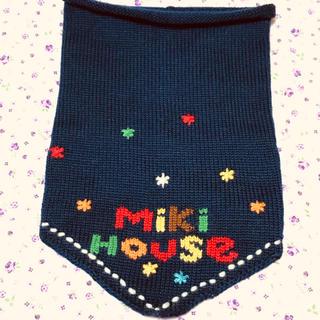 ミキハウス(mikihouse)のミキハウス ネックウォーマー ネイビー(マフラー/ストール)