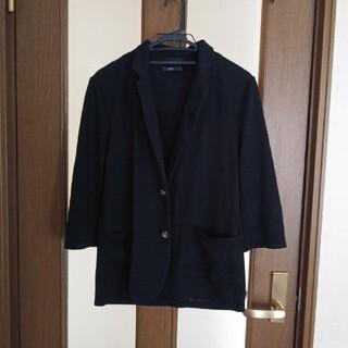 生地薄め ジャケット黒 Lsize(ナイロンジャケット)