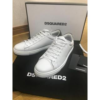 ディースクエアード(DSQUARED2)のディースクエアード2 ホワイトレザースニーカー 2019ss(スニーカー)