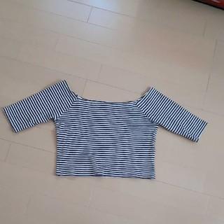 スナイデル(snidel)のスナイデルsnidelボーダー5分袖Tシャツ(Tシャツ(長袖/七分))