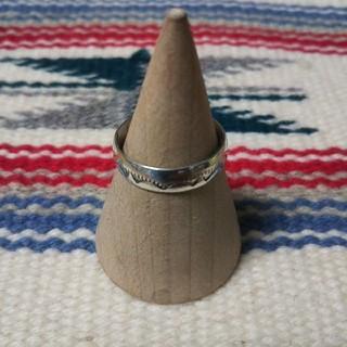 インディアン(Indian)のインディアンジュエリー ナバホ族 Tahe スターリングシルバーリング 指輪(リング(指輪))