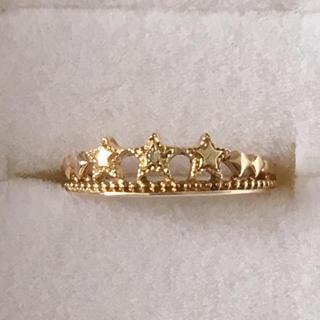 ジュエリーツツミ(JEWELRY TSUTSUMI)のK10イエローゴールドダイヤモンドピンキーリング(リング(指輪))