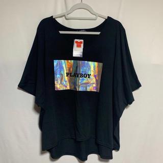 PLAYBOY - 【新品タグ付き】黒PLAYBOYロゴドルマンTシャツ 3L
