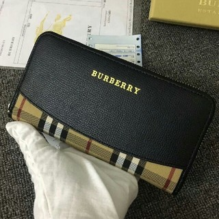 BURBERRY - 正規品Burberryバーバリー長財布 ファスナー 男女兼用