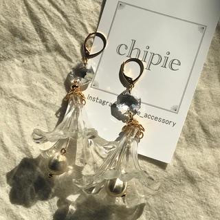 リリーブラウン(Lily Brown)の再∞販 chandelier flower dress pierce(ピアス)