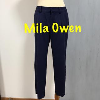 ミラオーウェン(Mila Owen)のMila Owen ミラ オーウェン センタープレスパンツ(クロップドパンツ)