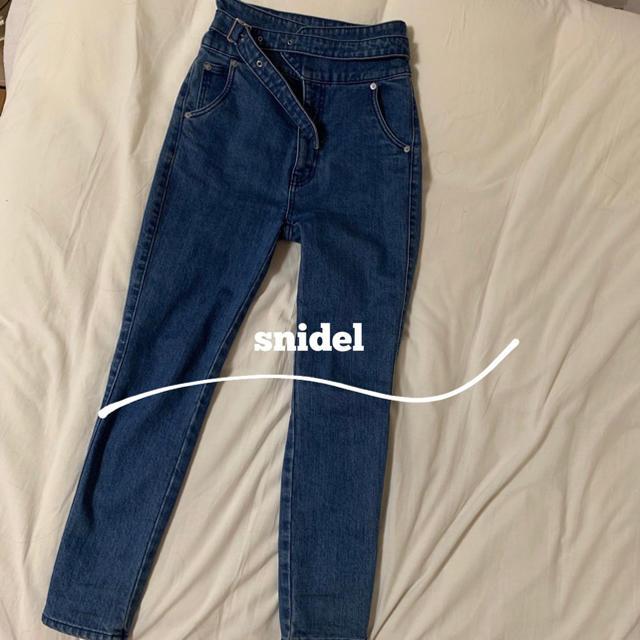 snidel(スナイデル)のsnidel  ハイウエストデニム レディースのパンツ(デニム/ジーンズ)の商品写真
