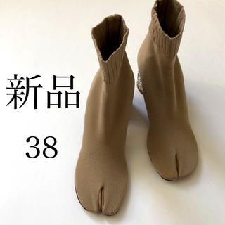 マルタンマルジェラ(Maison Martin Margiela)の新品38./ベージュ メゾン マルタン マルジェラ 足袋 タビ ソックス ブーツ(ブーツ)