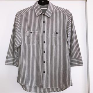 GU - 美品*【GU】ストライプ シャツ 7分丈 S ジーユー