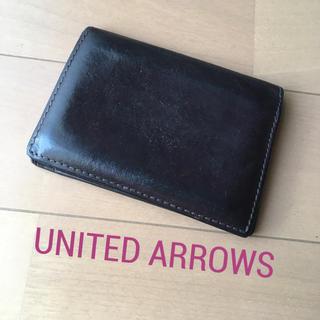 ビューティアンドユースユナイテッドアローズ(BEAUTY&YOUTH UNITED ARROWS)の定期入れ 革ブラウン UNITED ARROWS(名刺入れ/定期入れ)
