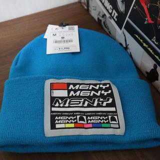 ザラ(ZARA)のニット帽 ブルー(ニット帽/ビーニー)